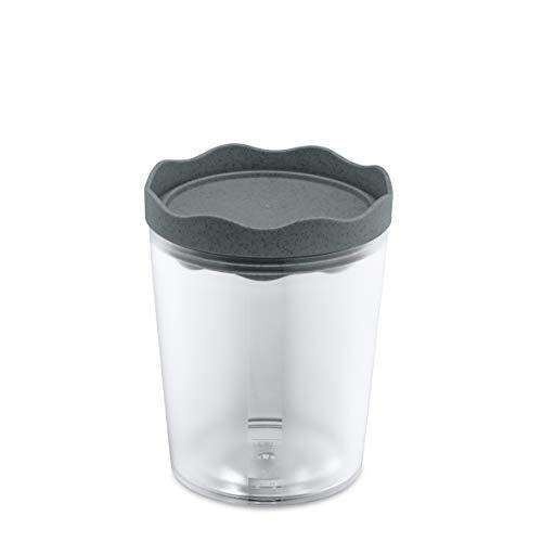 Koziol Vorratsdose, Behälter, Zucker, Tee, Kaffee, Reis, Mehl, Bio-Dunkelgrau, M-700 ml