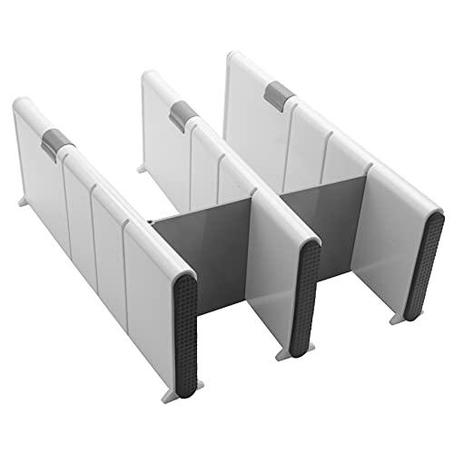 Sonline Separadores de cajones ajustables – Separadores de organización de cajones ampliables para cocina, aparador, dormitorio, paquete de 3