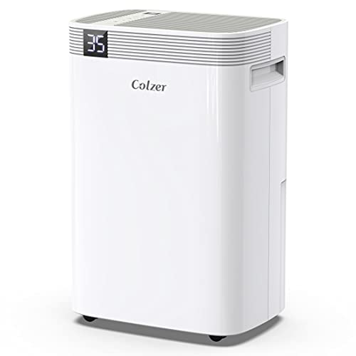 pool dehumidifiers COLZER 3500 Sq Ft Dehumidifiers 50 Pints for Home Basements, Garage, Humid Bathroom, Laundry Room, Grow Room, with Drain Hose for Continuous Drainage