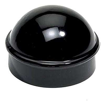 """1 7/8"""" Aluminum Chain Link Fence Round Style Main Post Cap - Powder Coated Black"""