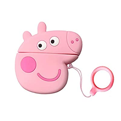 Kawaii Anime AirPods 12 Case Cute Pink Pig Cart...