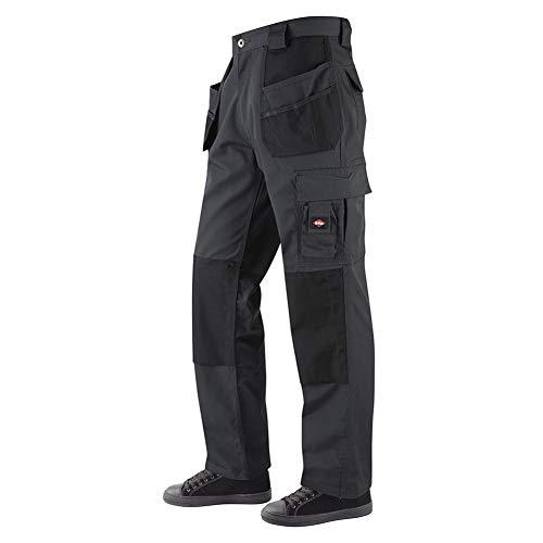 Lee Cooper Hommes Vêtements Multi & Holster Pocket genouillères travail de sécurité Pantalon cargo Pantalon, Gris Noir, Taille 34  Taille Longue 33  Leg
