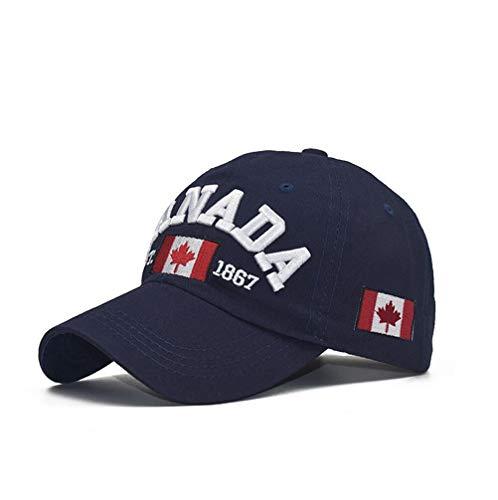 XibeiTrade Gorra de béisbol unisex de algodón con bandera de Canadá bordada hoja de arce para...
