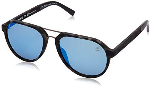 Timberland Eyewear TB9142 Gafas de sol, Marrón (Coloured Havana/Smoke Polarized), 56.0 para Hombre