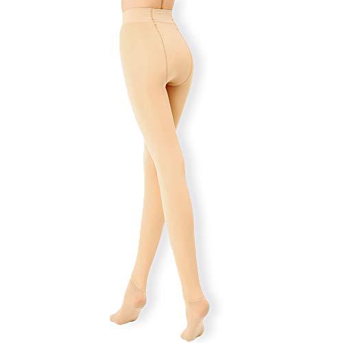 Leggins Termicos Mujer, Leggins Mujer Invierno Terciopelo Elástico, Mallas Termicas Mujer Pantalon Termico, Leggings Negros (Color carne, L-XL)