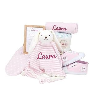 Sneakers de Mababy - Canastilla Personalizada para Recien Nacido - Regalo para Nacimiento - Cesta de Bebé Personalizada - Regalos Bebé (rosa, 0-3 meses)