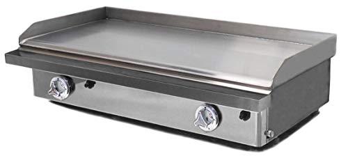 Plancha Gas 80 Acero rectificado placa extraíble - La pancha profesional para todos