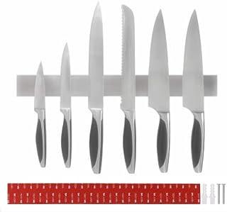 XINGGANG 40 cm Porte Couteaux Magnétique, Bande magnétique de Suspension pour Couteaux, Barre à Couteaux Aimantée en Acier...