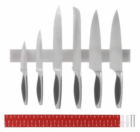 Barra Magnetica para Cuchillos,40 cm Portacuchillos Magnético de Acero Inoxidable,para el Almacenamiento de Cuchillos de Cocina, para Herramientas Otros Utensilios y Organizacion