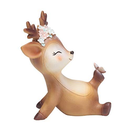 VOSAREA Rentier Figur Elch Hirsch Figur Weihnachten Tierfigur Dekofigur Weihnachtsfigur Xmas Party Deko Tischdeko Winterdeko Weihnachtsdeko (Freches Muster)