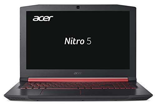 Acer Nitro 5 AN515-51-76K2 39,6 cm (15,6 Zoll Full-HD IPS matt) Gaming Notebook (Intel Core i7-7700HQ, 8GB RAM, 512GB PCIe SSD, GeForce GTX 1050Ti (4GB VRAM), Win 10) schwarz/rot (Generalüberholt)