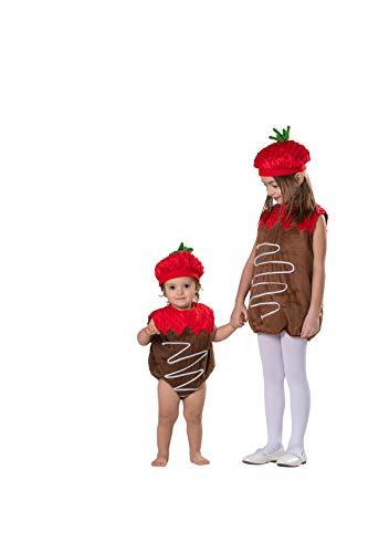 Dress Up America Disfraz de Fresa baado en Chocolate para nios, Multi, Talla 0-6 Meses (Peso: 3,5-7 kg, Altura: 43-61 cm)