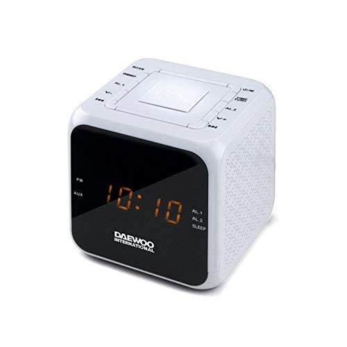 Radio Despertador DAEWOO DCR-450 Blanco