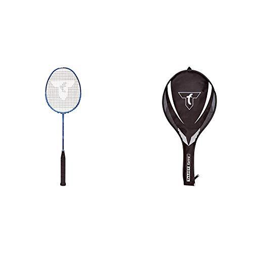 Talbot Torro Badmintonschläger Isoforce 411.8, 100% Graphit, One Piece, 439554 & 3/4 Badminton-Schlägerhülle, 449156