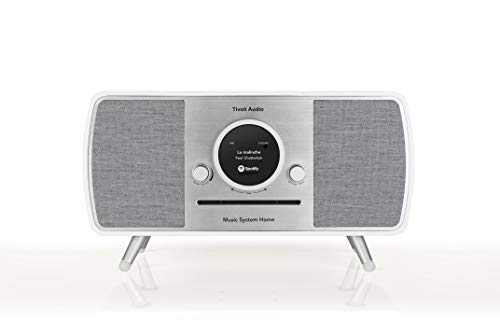 Tivoli Audio (Art Collection) Music System Home – All-in-one DAB+ / UKW compatto con tecnologia wireless e Bluetooth, bianco/grigio