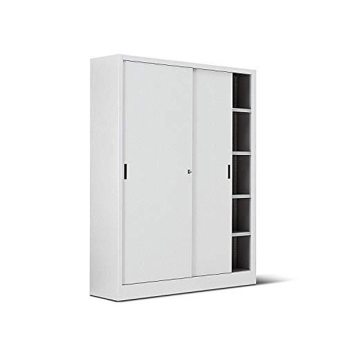ITALFROM Armadio in Metallo Bianco per Ufficio con Porte Scorrevoli Archivio Misura 150X45X200 [cod.2461]