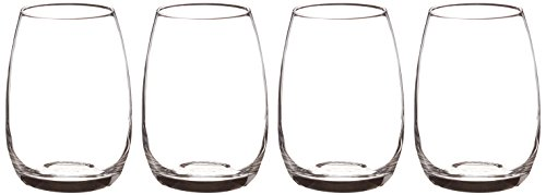 Luigi Bormioli Michelangelo 15.5 oz Stemless Glasses, Set of 4, Clear
