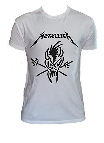 T Shirt Metallica Logo, Scary Guy, Metal, Bambino 7-8 Anni
