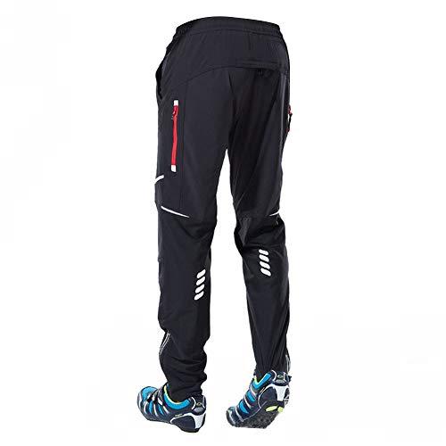 LY4U Hombres Pantalones de Ciclismo Pantalones Fleece a Prueba de Viento Invierno...