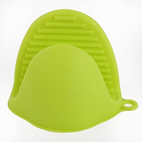 Guantes multifunción de silicona para horno para servir platos de aislamiento para ollas, guantes de cocina, guantes de horno para microondas (color verde)