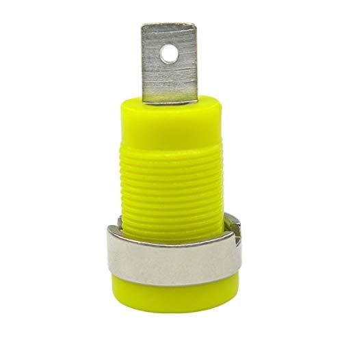 10pcs con aislamiento de 4 mm chapado en níquel Encuadernación Panel Jack borne de conexión de seguridad de plátano Mujer montaje del enchufe del zócalo , Bastante precisa ( Color : Yellow )