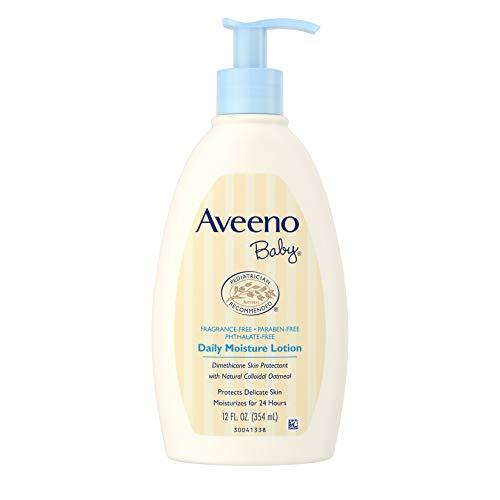 Aveeno Lotion hydratante à usage quotidien pour bébé - Apaise, protège et guérit la peau des bébés - 355 ml