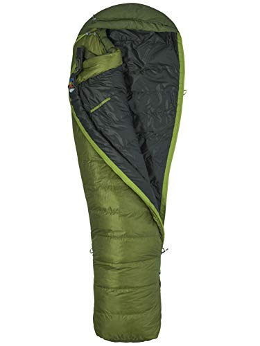 Marmot Erwachsene Schlafsack Never Winter, Cilantro/Tree Green, RZ, 29830-4969-R