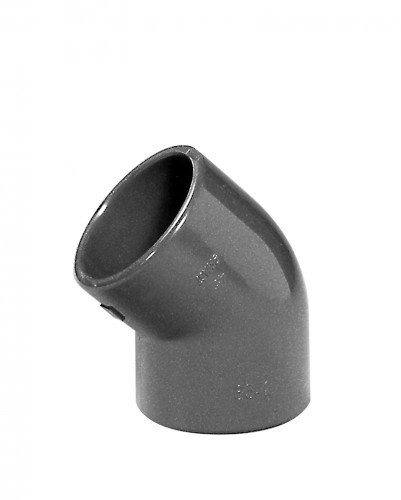 Angle en PVC 45 °, 2 x Manchon adhésives, 16 mm