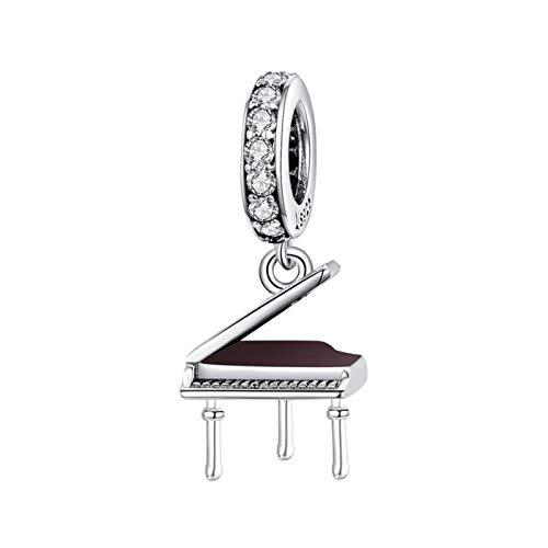 HMMJ Los encantos cuelgan los Cuentas, S925 Sterling Silla SUEÑO Creativa Dream Piano DIY PENDIENTO Hecho a Mano para Pandora Troll Chamilia Charm Pulsera Collares
