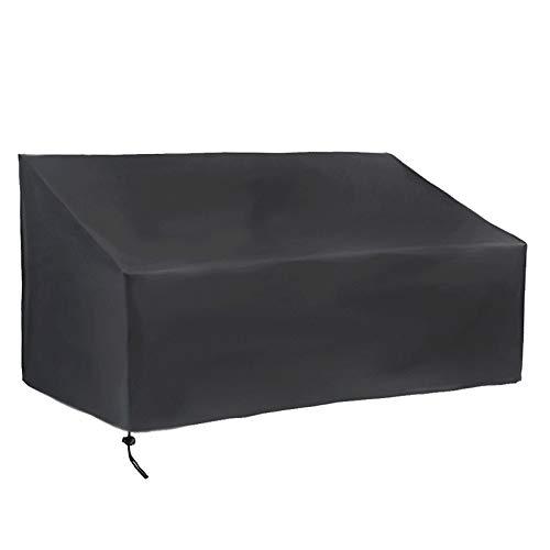 Haude Cubierta de Asiento de Patio, Cubierta de Banco de Loveseat Al Aire Libre, Funda de Sofá Resistente Al Agua para Muebles de Patio (2 Plazas: 52,7 X 26 X 35 Pulgadas)