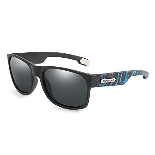 FRGTHYJ gepolariseerde zonnebril, voor mannen, bedrukt frame, modieus, voor rijden, vissen, zonnebril, voor mannen, UV400, grijs
