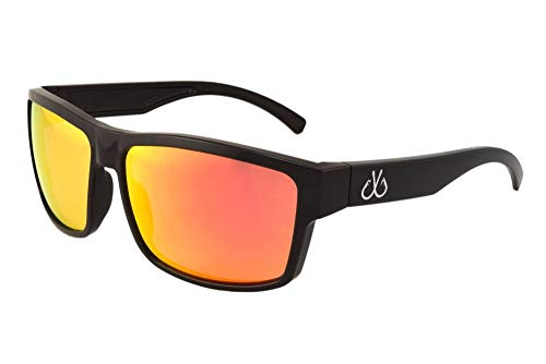 Filthy Anglers Sport Fishing Polarized Black Sunglasses Sunburst Red Mirror 100% UV