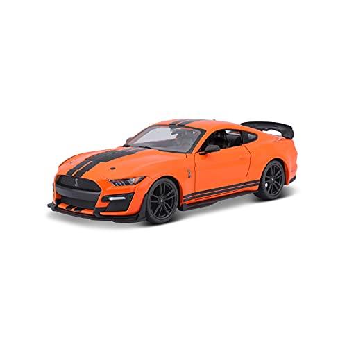 Maisto Mustang Shelby GT500 (2020): Modellauto im Maßstab 1:24, Türen beweglich, 20 cm, orange (531532)
