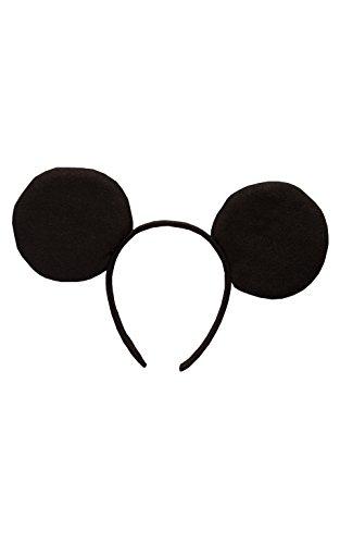 Disney - Diadema con orejas de Mickey Mouse para niños, infantil talla única (Rubie's 30202)