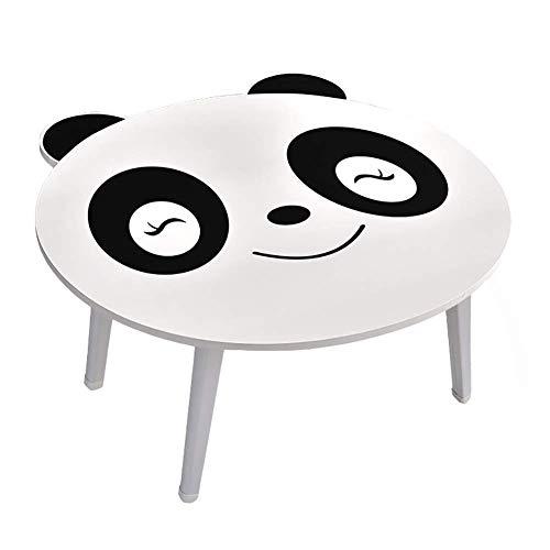 CHOUCHOU MultifuncióN Estante Almacenamiento Baldas Cute Panda Plegable Pequeño Escritorio Blanco Portátil Plegable Portátil Mesa for Portátil 60X57.5X29cm