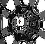 KMC XD 825 BUCK Center Cap Gloss Black New Rim Middle with Bolts Fits All SIZES