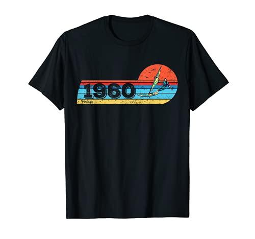 Tabla de windsurf Velas Vintage 1960 Cumpleaños Windsurfing Camiseta