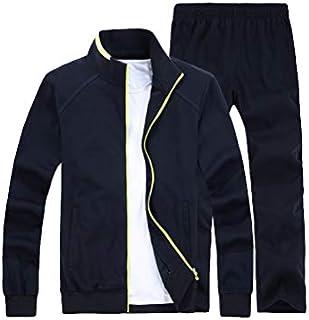 Lavnis Men's Casual Tracksuit Long Sleeve Full Zip Running Jogging Athletic Sports Set