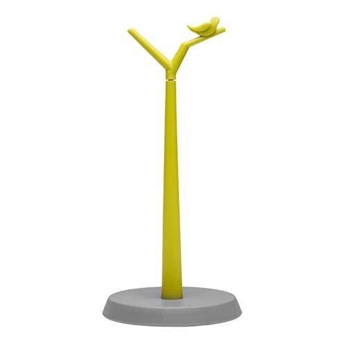 LIU- Soporte De Toalla De Papel Vertical Forma De Rama De Pájaro Pequeño Base Antideslizante Redonda Organizador De Encimera De Cocina Y Baño Decoración del Hogar