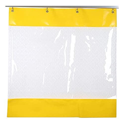 Al Aire Libre Impermeable Cortinas Transparente Cubierta De Lona, Dividir Cortina, con Mosquetón De Metal para El Departamento De Mantenimiento, Pérgola (Color : Clear Yellow, Size : 5x2.5m)