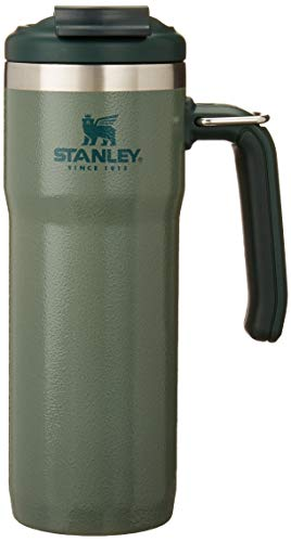 Stanley Classic Twinlock Travel Mug with Steel Loop 20oz, Leak-proof, Packable Hot & Cold Thermos, Double Wall Vacuum Insulated Tumbler for Coffee, Tea & Drinks, BPA Free Stainless-Steel Travel Mug