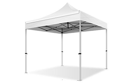 ACTIEXPRESS Tente Pliante 3X3 Structure en Aluminium 40mm Toit 300g/m² qualité professionelle (Blanc)