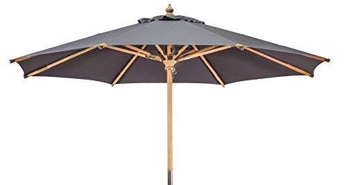Kai Wiechmann Premium Sonnenschirm Sunshine Luxus ø 350 cm anthrazit grau UV-Schutz 50+