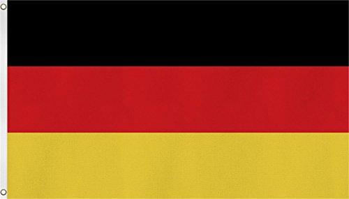 normani TOP QUALITÄT !! Fahne Flagge, Grösse: ca. 90x150 cm, Ordentliche Stoffqualität - Stoffgewicht ca. 110 gr/m2 Farbe Deutschland