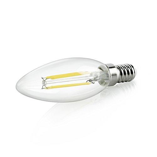WINSEE Candelabra LED Filament Bulbs 40W Equivalent, E12 Base B11 Led Light Bulbs, Daylight White 4000K Decorative Candle Light Bulb, ETL Listed,2 Years Warranty, Pack of 6