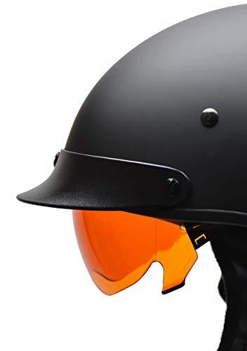 Vega Helmets Unisex-Adult Warrior Half Helmet Replacement Drop (Amber Shield, 1 pack)