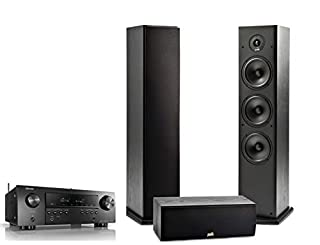 Polk Audio 3 Channel Home Theater System & Denon AVR-S650H Receiver | One (1) T30 Center Channel, Two (2) T50 Tower Speakers | Alexa + HEOS (B07TY3X15H) | Amazon price tracker / tracking, Amazon price history charts, Amazon price watches, Amazon price drop alerts