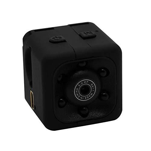 HUANRU Mini cámara SQ11 HD 1080P videocámara deportiva Mini DV Videocámara espionaje con visión nocturna y detección de movimiento