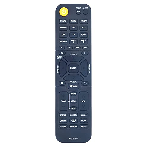 Allimity RC-970R Replaced Remote Control Fit for Onkyo Home AV Receiver TXSR494 HTR398 TX-SR494 HT-R398 HT-S3910 TXSR393 TX-SR393 HTS3910