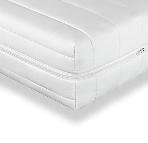 Träumegut24 - Punktelastische 7-Zonen Kaltschaummatratze – Komfortschaum Rollmatratze – ÖkoTex - Matratze Härtegrad H2 / H3 - Microfaserbezug - Höhe 16cm (90 x 200 cm, H3)